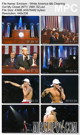 Eminem - White America & Cleaning Out My Closet (Live, MTV VMA 2002)