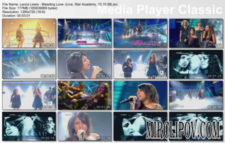 Leona Lewis - Bleeding Love (Live, Star Academy, 10.10.08)