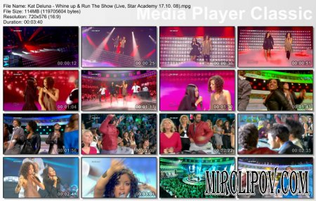 Kat DeLuna - Whine up & Run The Show (Live, Star Academy 17.10. 08)