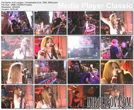 Avril Lavigne - Complicated (Live, VMA, 2002)