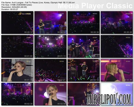 Avril Lavigne - Fall To Pieces (Live, Korea, Olympic Hall, 08.11.04)