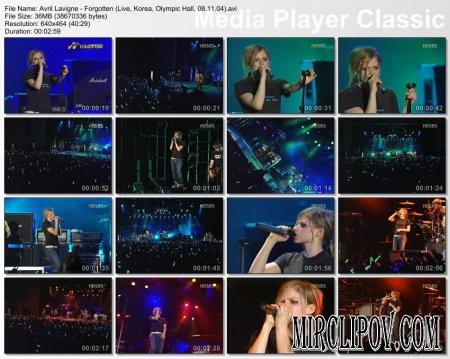 Avril Lavigne - Forgotten (Live, Korea, Olympic Hall, 08.11.04).avi