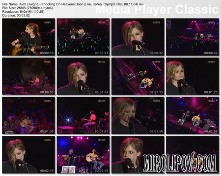 Avril Lavigne - Knocking On Heavens Door (Live, Korea, Olympic Hall, 08.11.04)