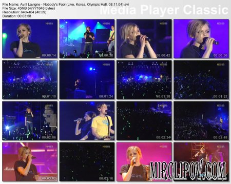 Avril Lavigne - Nobody's Fool (Live, Korea, Olympic Hall, 08.11.04)