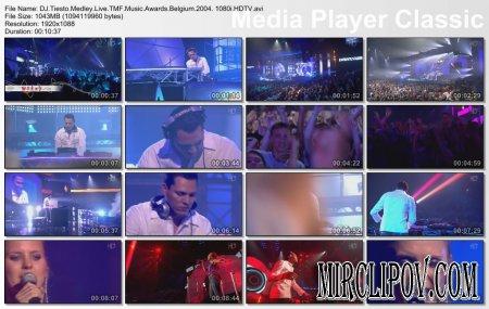 DJ Tiesto - Live Perfomance (Medley, TMF Music Awards, Belgium, 2004)