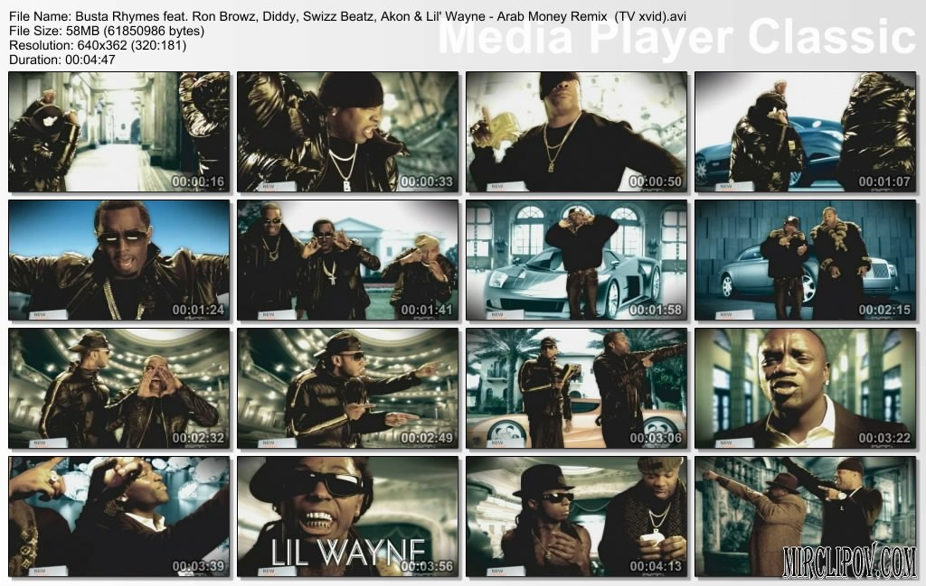 Busta Rhymes Feat. Ron Browz, Diddy, Swizz Beatz, Akon & Lil' Wayne - Arab Money (Remix)