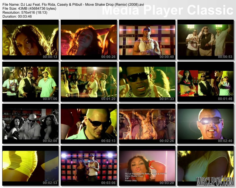 DJ Laz Feat. Flo Rida, Casely & Pitbull - Move Shake Drop (Remix)