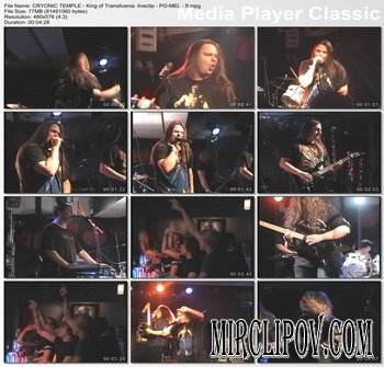 Cryonic Temple - King Of Transilvania (Live)