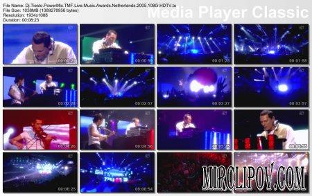 DJ Tiesto - Live Perfomance (Netherlands, TMF Music Awards, 2005)
