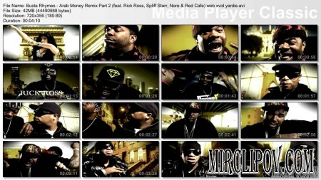 Busta Rhymes Feat. Ron Browz, Rick Ross, Spliff Starr, N.O.R.E & Red Cafe - Arab Money (Remix, Part 2)