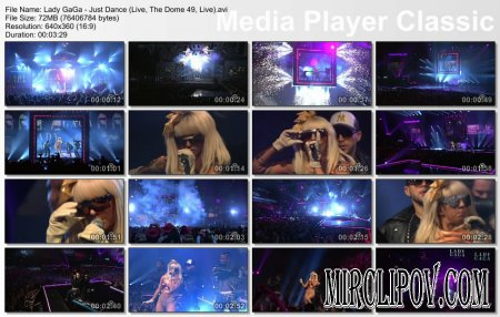 Lady GaGa - Just Dance (Live, The Dome 49, 2009)
