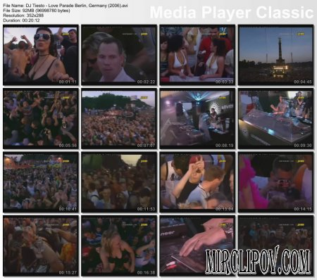 DJ Tiesto - Live Perfomance (Love Parade Berlin, Germany, 2006)