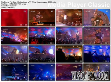 Flo Rida - Medley (Live, MTV Africa Music Awards, 2008)