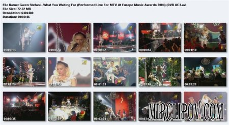 Gwen Stefani - What You Waiting For (Live, MTV Europe Music Awards, 2004)