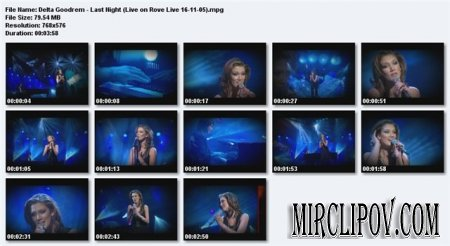 Delta Goodrem - Last Night (Live, Rove, 16.11.05)