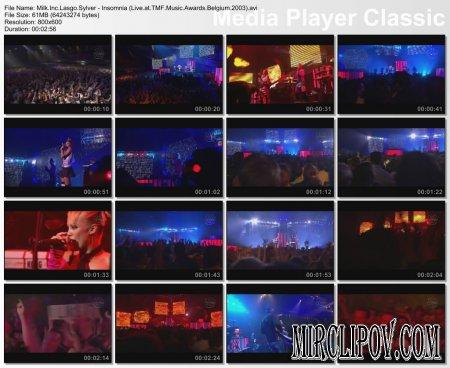 Milk Inc. & Lasgo Sylver - Insomnia (Live, TMF Music Awards, Belgium, 2003)