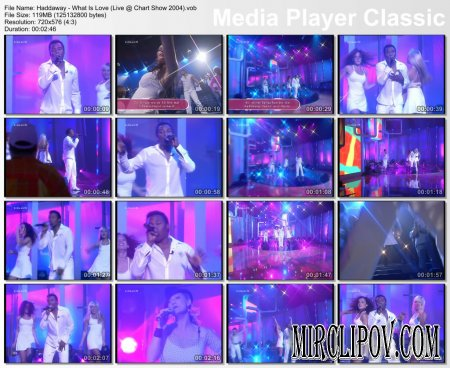 Haddaway - What Is Love (Live, Chart Show, 2004)
