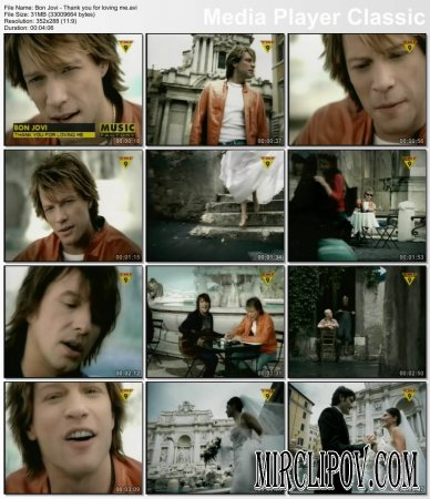Bon Jovi - Thank You For Loving Me