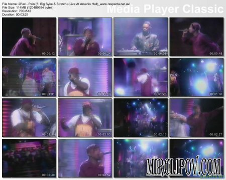 2Pac Feat. Big Syke & Stretch - Pain (Live, Arsenio Hall)