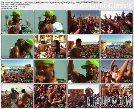 Jim Jones Feat. Ron Browz & Juelz Santana - Pop Champagne (Live, MTVu Spring Break, 2009)