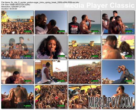 Flo Rida Feat. Wynter Gordon - Sugar (Live, MTVu Spring Break, 2009)