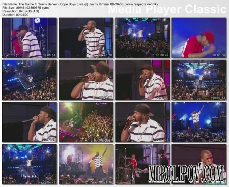 The Game Feat. Travis Barker - Dope Boys (Live, Jimmy Kimmel, 08.26.08)