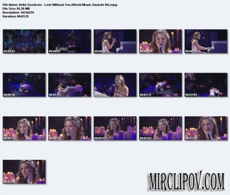 Delta Goodrem - Lost Without You (Live, World Music Awards, 2005)
