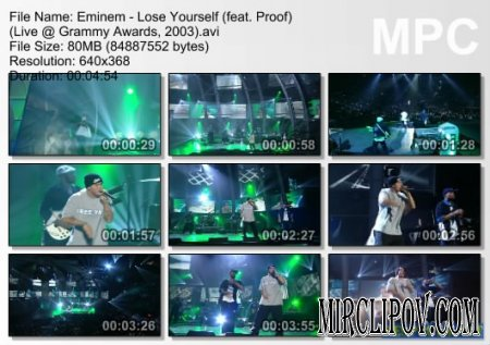 Eminem - Lose Yourself (Live, Grammy Awards, 2003)