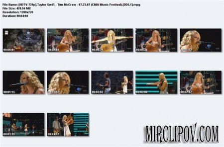 Taylor Swift Feat. Tim McGraw - Live Perfomance (CMA Music Festival, 07.23.07)
