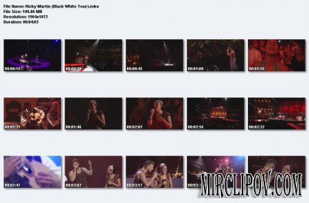 Ricky Martin - Black White Tour