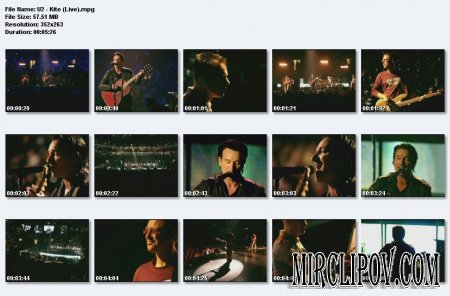 U2 - Kite (Live)