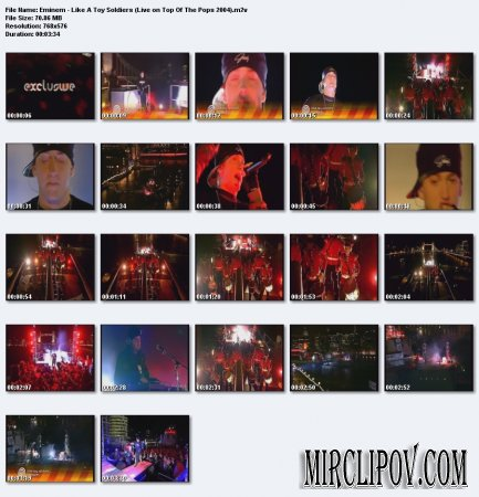 Eminem – Like A Toy Soldiers (Live, Top Of The Pops, 2004)