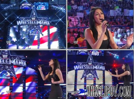 Nicole Scherzinger - America The Beautiful (Live, Wrestlemania)