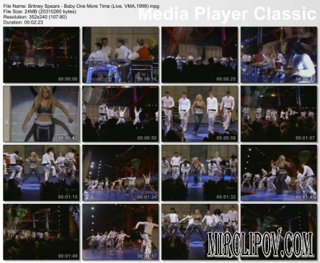 Britney Spears - Baby One More Time (Live, VMA,1999)