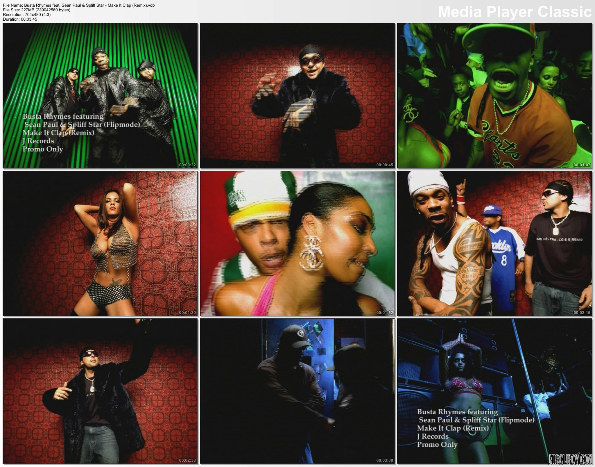 Busta Rhymes Feat. Spliff Star & Sean Paul - Make It Clap (Remix)