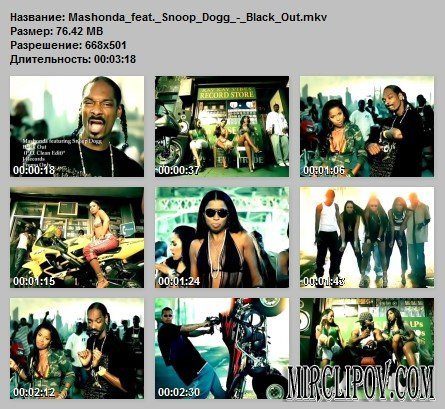 Mashonda Feat. Snoop Dogg - Black Out