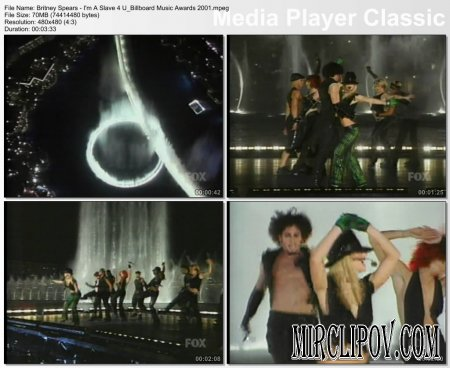 Britney Spears - I'm A Slave 4 U (Live, Billboard Music Awards, 2001)