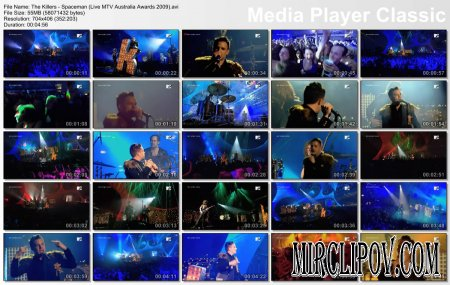 The Killers – Spaceman (Live, MTV Australia Awards, 2009)