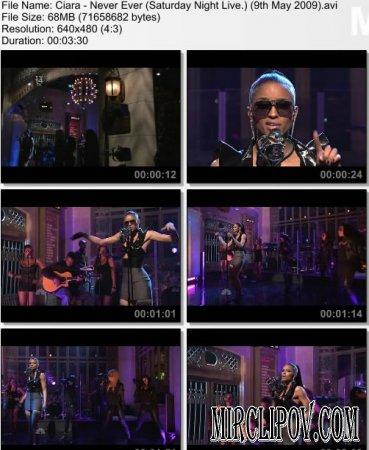 Ciara - Never Ever (Live, Saturday Night, 09.05.09)