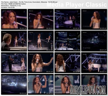 Jade Ewen - It's My Time (Live, Eurovision, Moscow, 16.05.09)