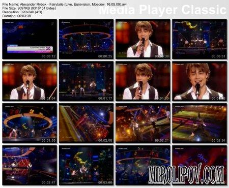 Alexander Rybak - Fairytale (Live, Eurovision, Moscow, 16.05.09)
