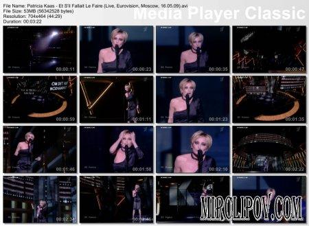 Patricia Kaas - Et S'il Fallait Le Faire (Live, Eurovision, Moscow, 16.05.09)