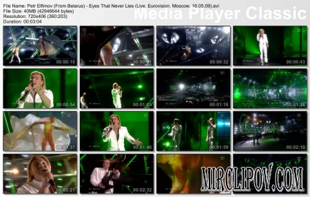 Petr Elfimov (From Belarus) - Eyes That Never Lies (Live, Eurovision, Moscow, 16.05.09)