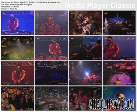 DJ Tiesto - Radio 555 (Live, De Dam Amsterdam)