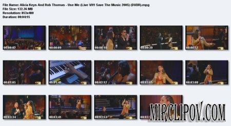 Alicia Keys And Rob Thomas - Use Me (Live Save The Music 2005)