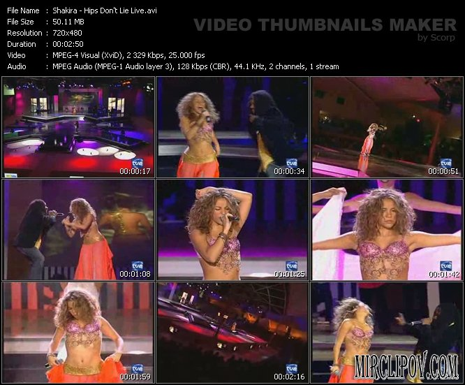 Shakira ft. Wyclef Jean - Hips Don't Lie (Live)