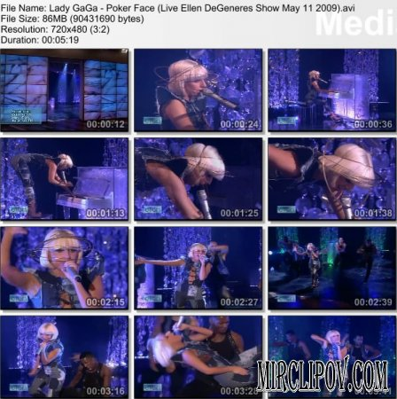 Lady GaGa - Poker Face (Live Ellen DeGeneres Show May 11 2009)