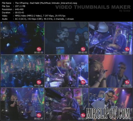 The Offspring - Bad Habit (Much Music Intimate Interactive, Live)