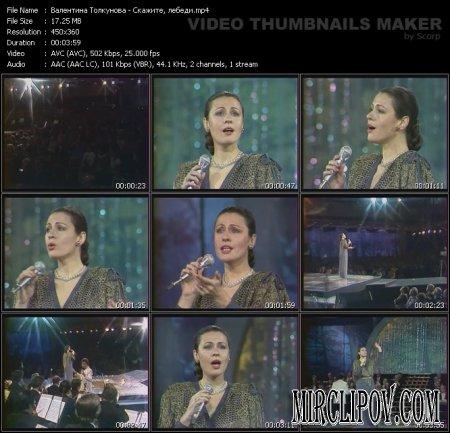 Валентина Толкунова - Скажите лебеди