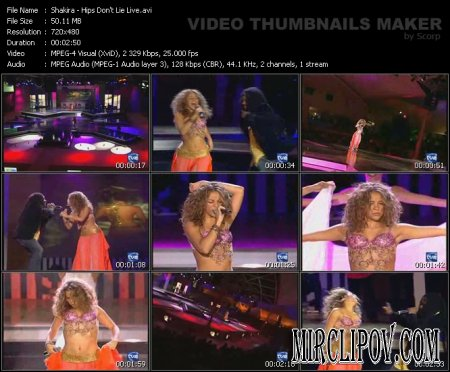 Shakira ft. Wyclef Jean - Hips Don't Lie (Live)